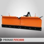Pług odśnieżny PUV-2800 lemiesz gumowy PRONAR